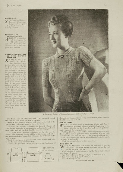 Free Vintage Knitting Patterns 1940s : The Vintage Pattern Files: 1940s Knitting - Neat & Feminine