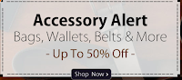 Homeshop18 Accessory alert : Upto 50% Off for Bags, Wallets, Belts And more