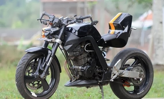 Modif Honda Mega Pro VS Tiger Street Fighter