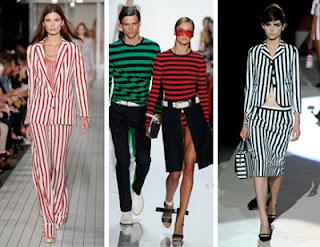 Desain Busana wanita Bold Stripes
