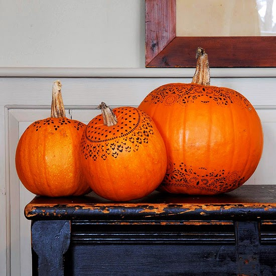 Modern Furniture Easy Painted Pumpkins 2013 Halloween