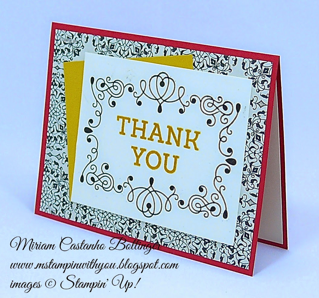 dsc 096, Miriam Castanho Bollinger, #mstapinwithyou, stampin up, demonstrator, dsc, thank you, typeset specialty DSP, letterpress winter stamp set, heat embossing, su