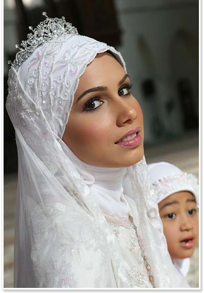Wedding Dress Muslimah Simple : Modern muslim wedding dresses design with veil