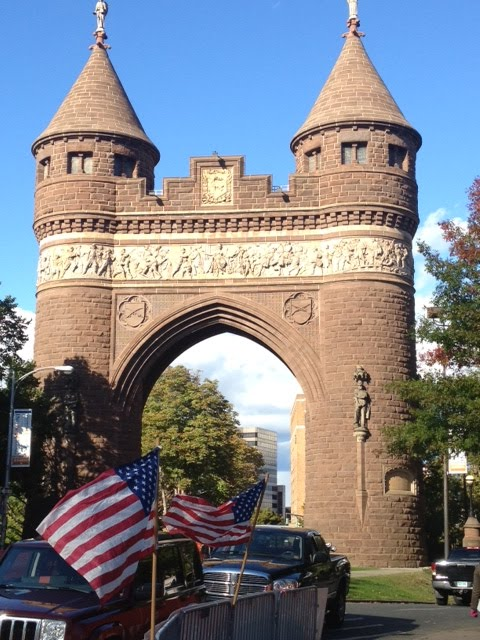 The Soldiers and Sailors Memorial Arch in Hartford, CT