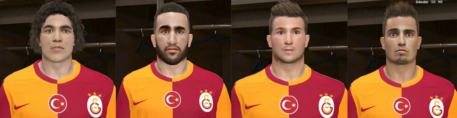 PES 2014 Galatasaray New Transfers Facepack