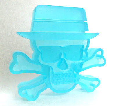 """Blue Sky"" Heisenberg Skull & Crossbones Breaking Bad Vinyl Figure by Tristan Eaton & Pretty in Plastic"