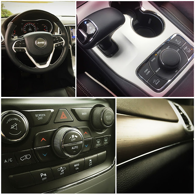 2015 Jeep Grand Cherokee Overland interior collage