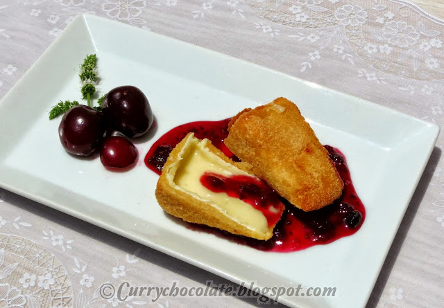 Camembert with raspberry jam