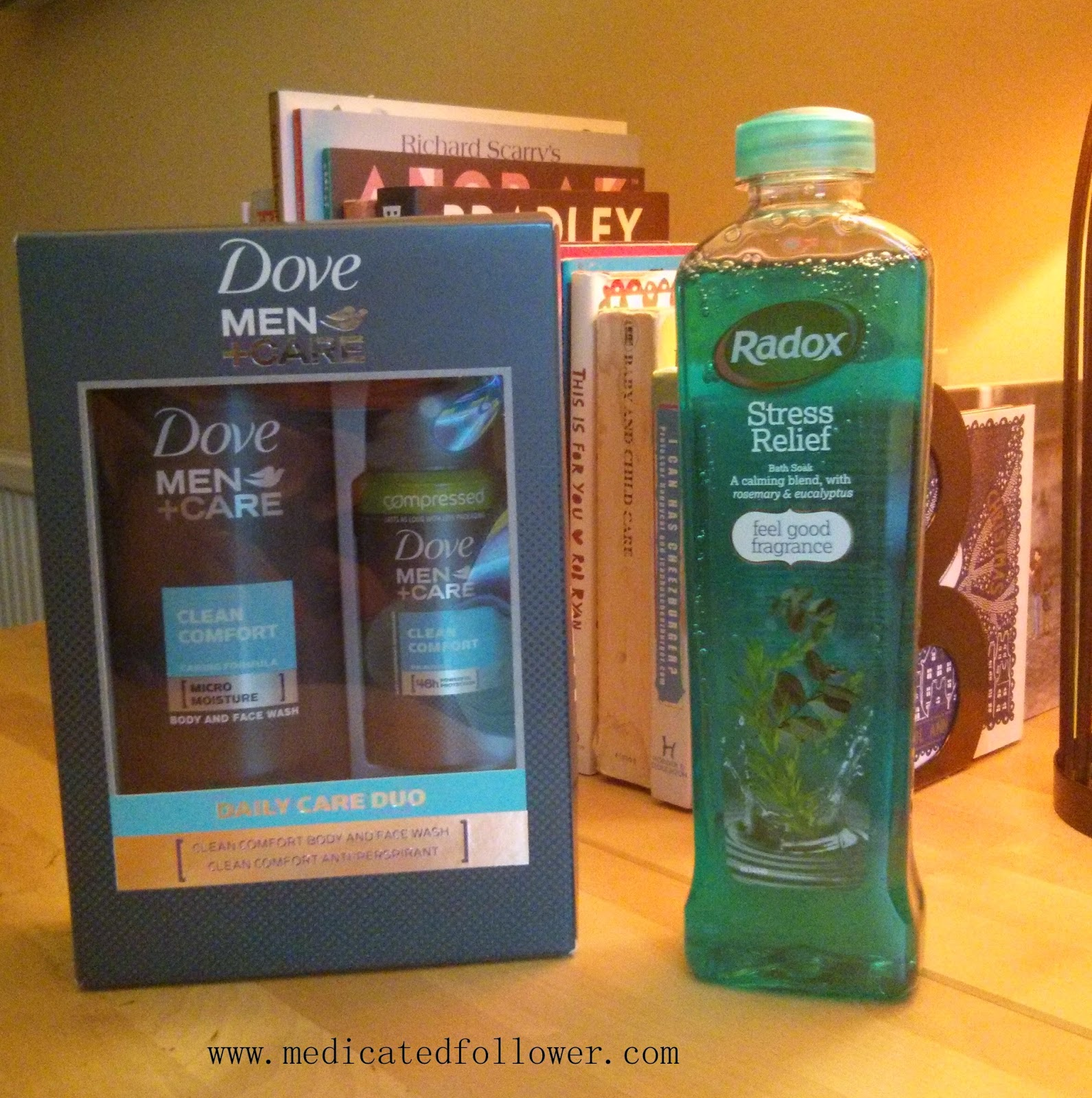 Father's Day gift set, Radox, Dove