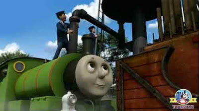 Island of Sodor water tower station Percy the engine cold water will make showground Calliope work
