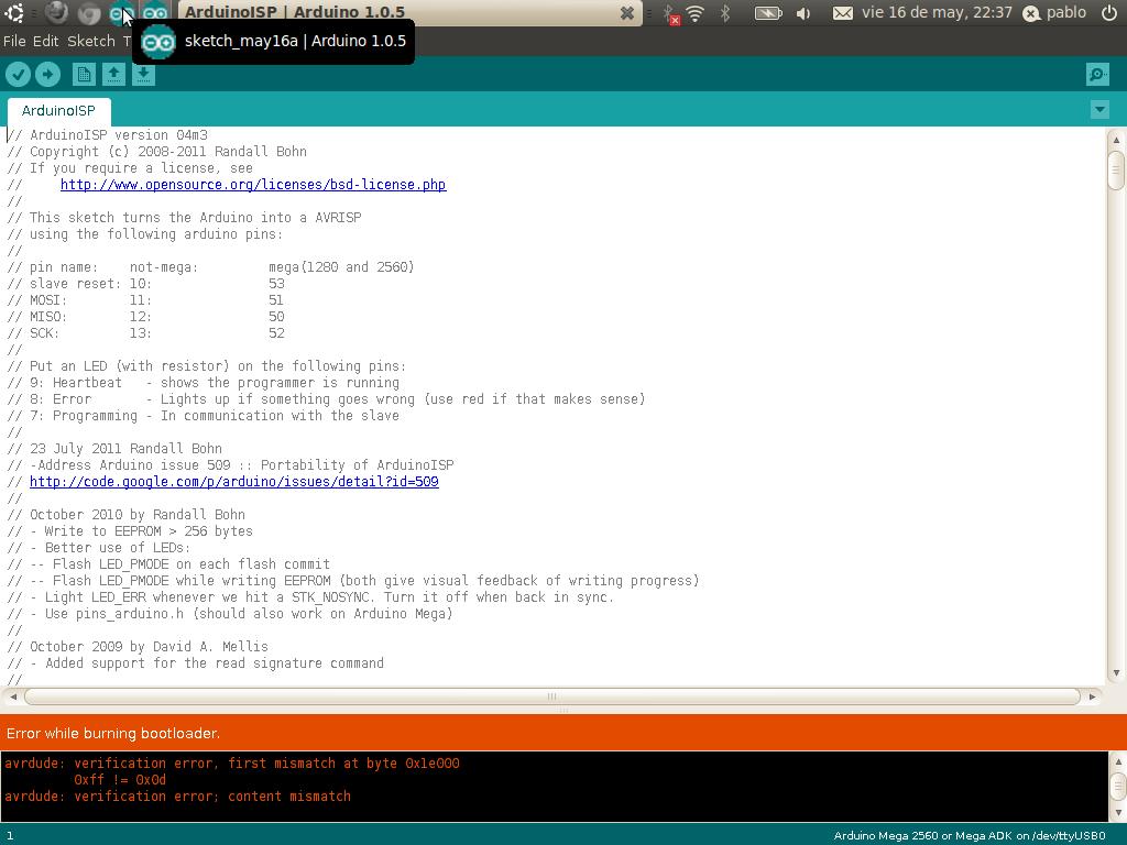 Return arduino programador icsp o spi