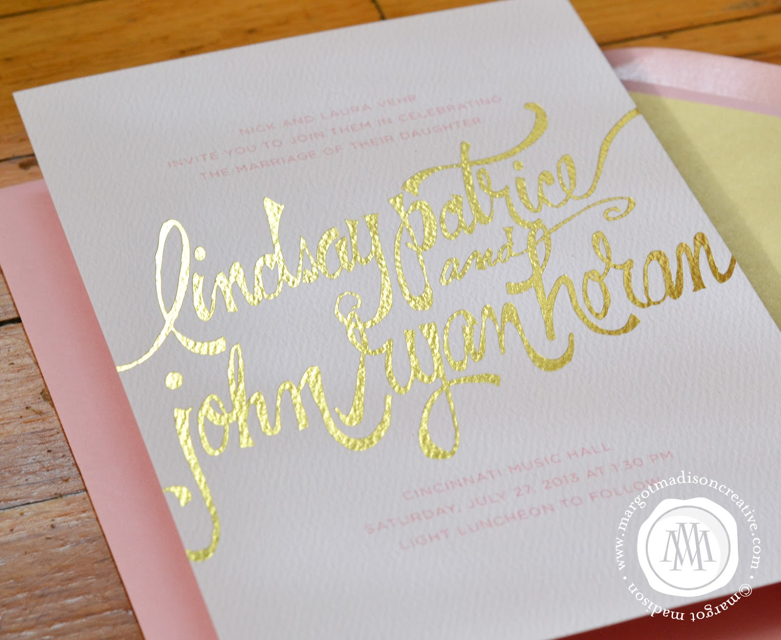 Margotmadison Handwritten Fonts On Wedding Invitations