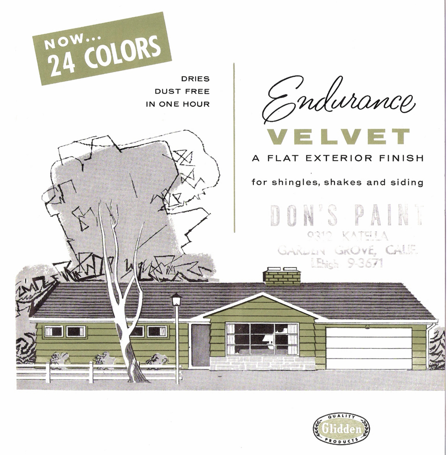The Sunshine Grove: 1950s Glidden Exterior Paint