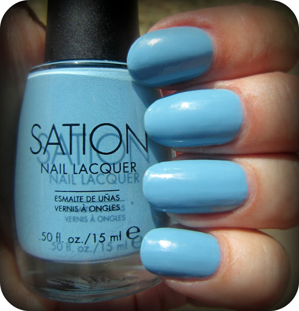 Sation Nail Polish: Concrete And Nail Polish: Sation Blue Sky's The Limit