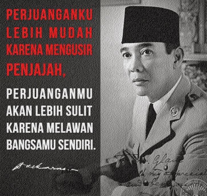 Kumpulan Kata Mutiara Soekarno (Bung Karno)