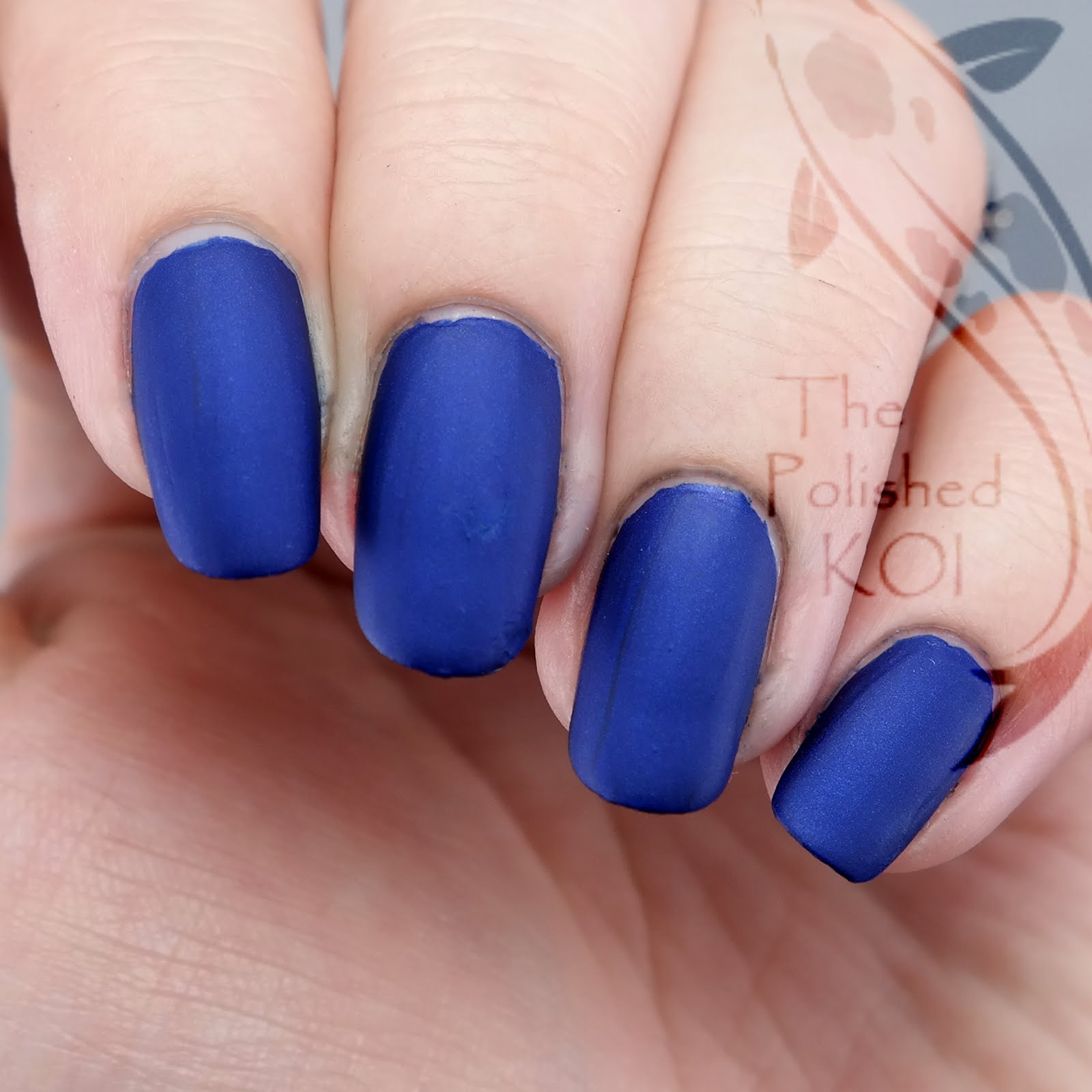 The polished koi thelacquerring tardis blue for this post though i wanted to keep the focus on the color and not go all out with the nail art so i stamped a design from a bornpretty store plate prinsesfo Choice Image