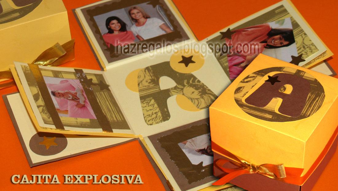 cajita explosiva con fotos