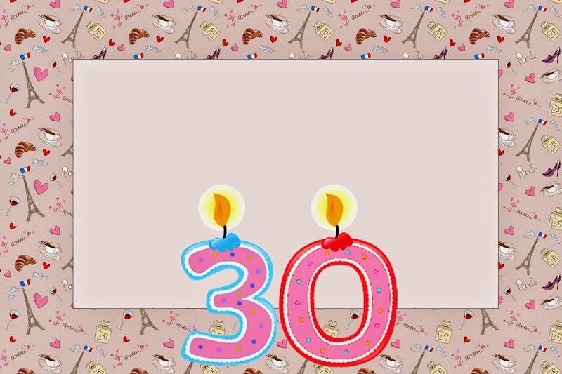 30th Birthday Free Printable Invitations – Free 30th Birthday Cards