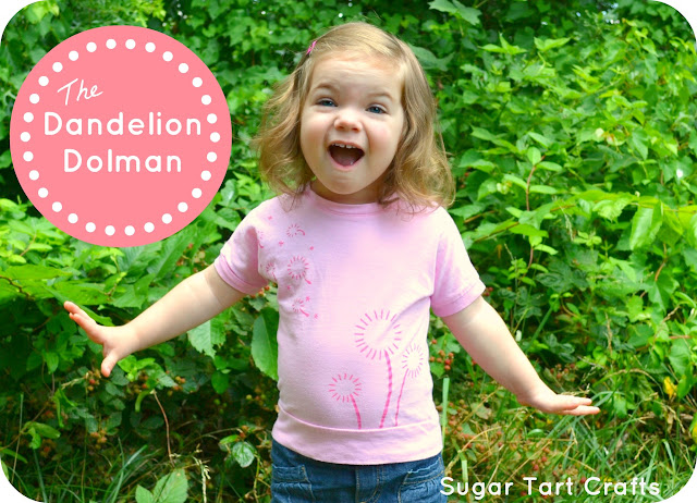 Dandelion print dolman top