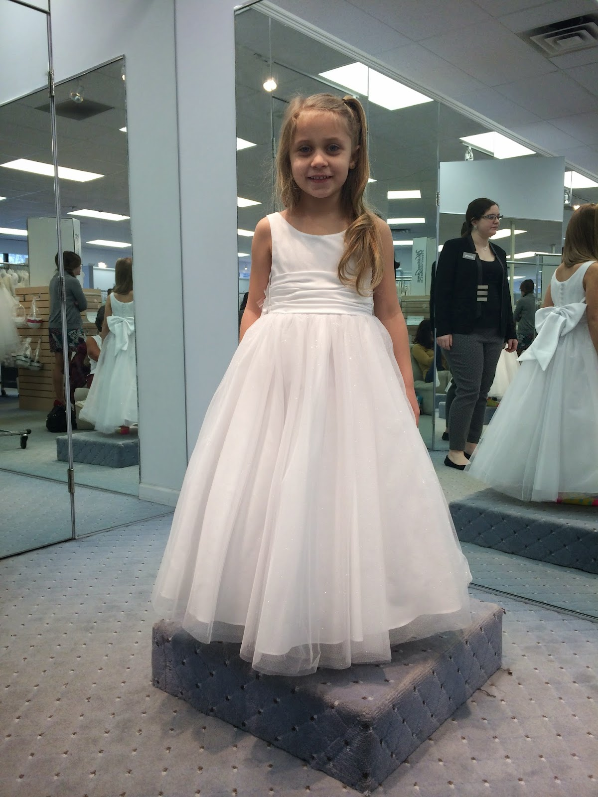 Doeblerghini Bunch:  Flower Girl Dresses - Long Sparkle Bottom