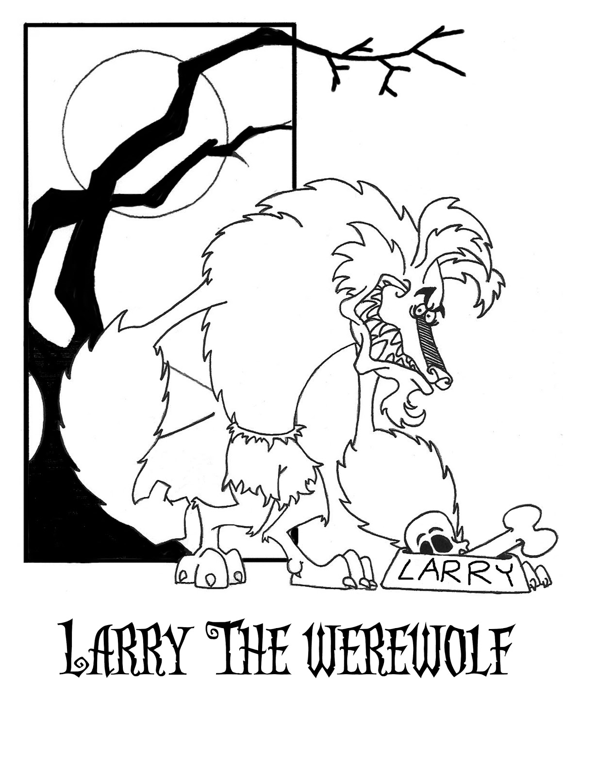 scary werewolf. halloween quiet book characters coloring page 5 ...