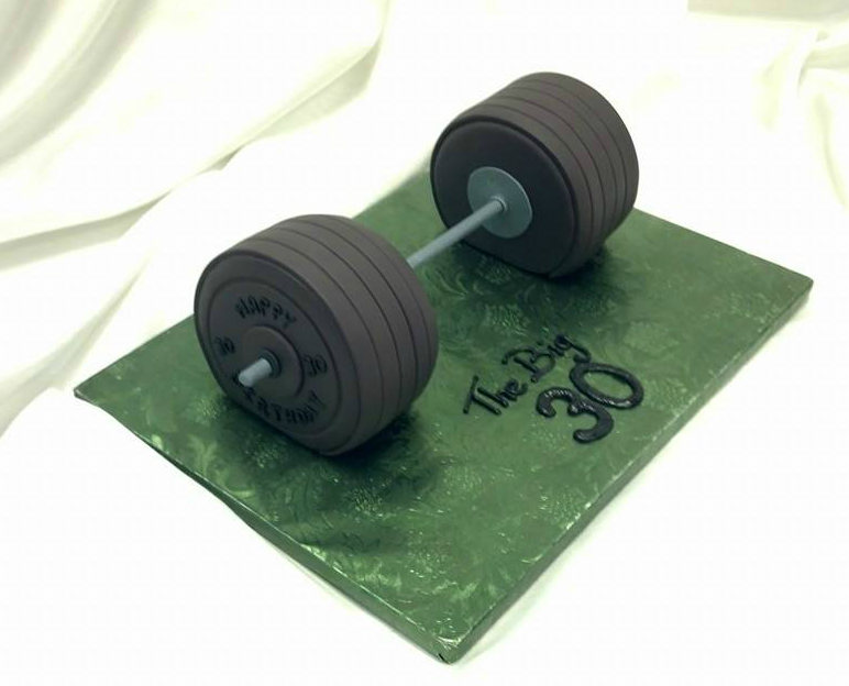 30th weight lifter birthday cake