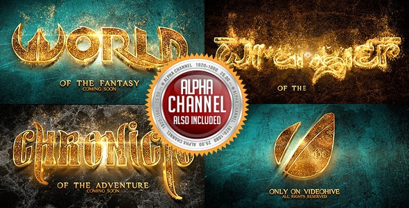 VideoHive Hot And Gold Reveal