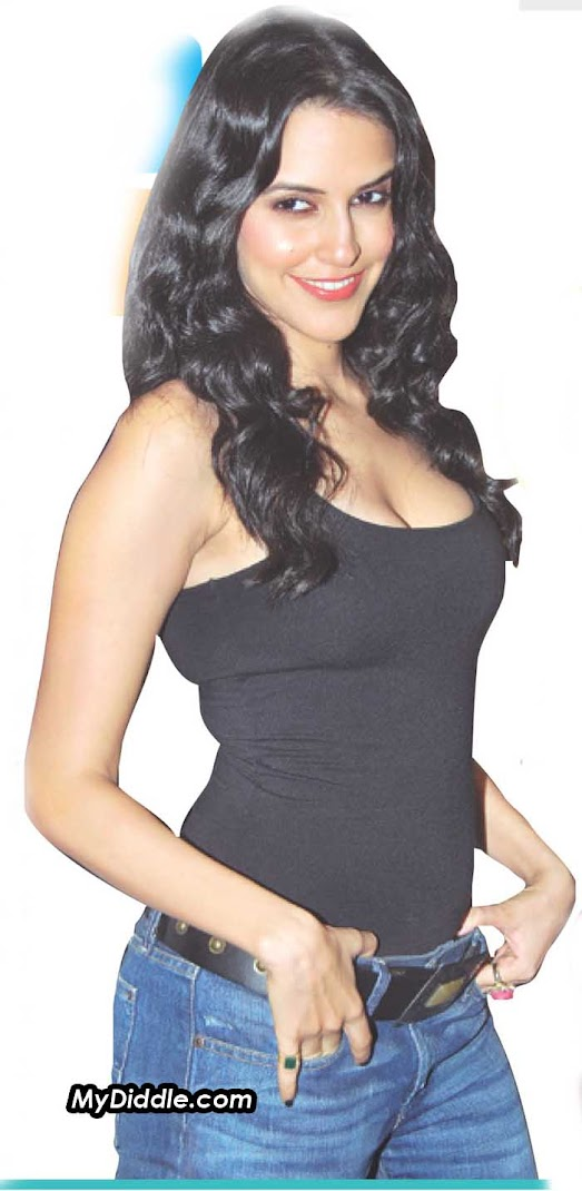 Neha Dhupia Latest Tank Top Newspaper Hot Scan