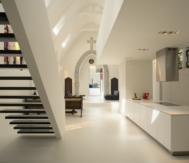 Minimal kitchen in interesting home