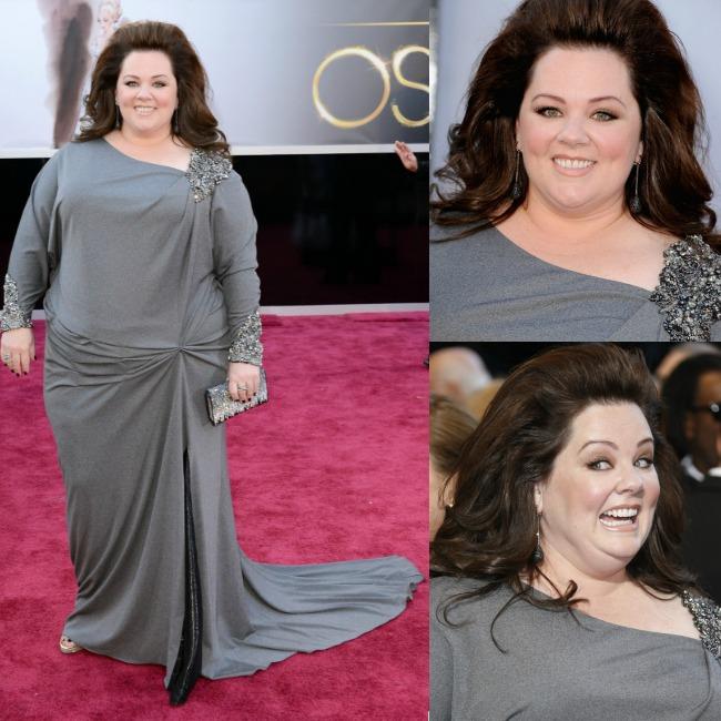 il look di Melissa McCarthy agli Oscar 2013