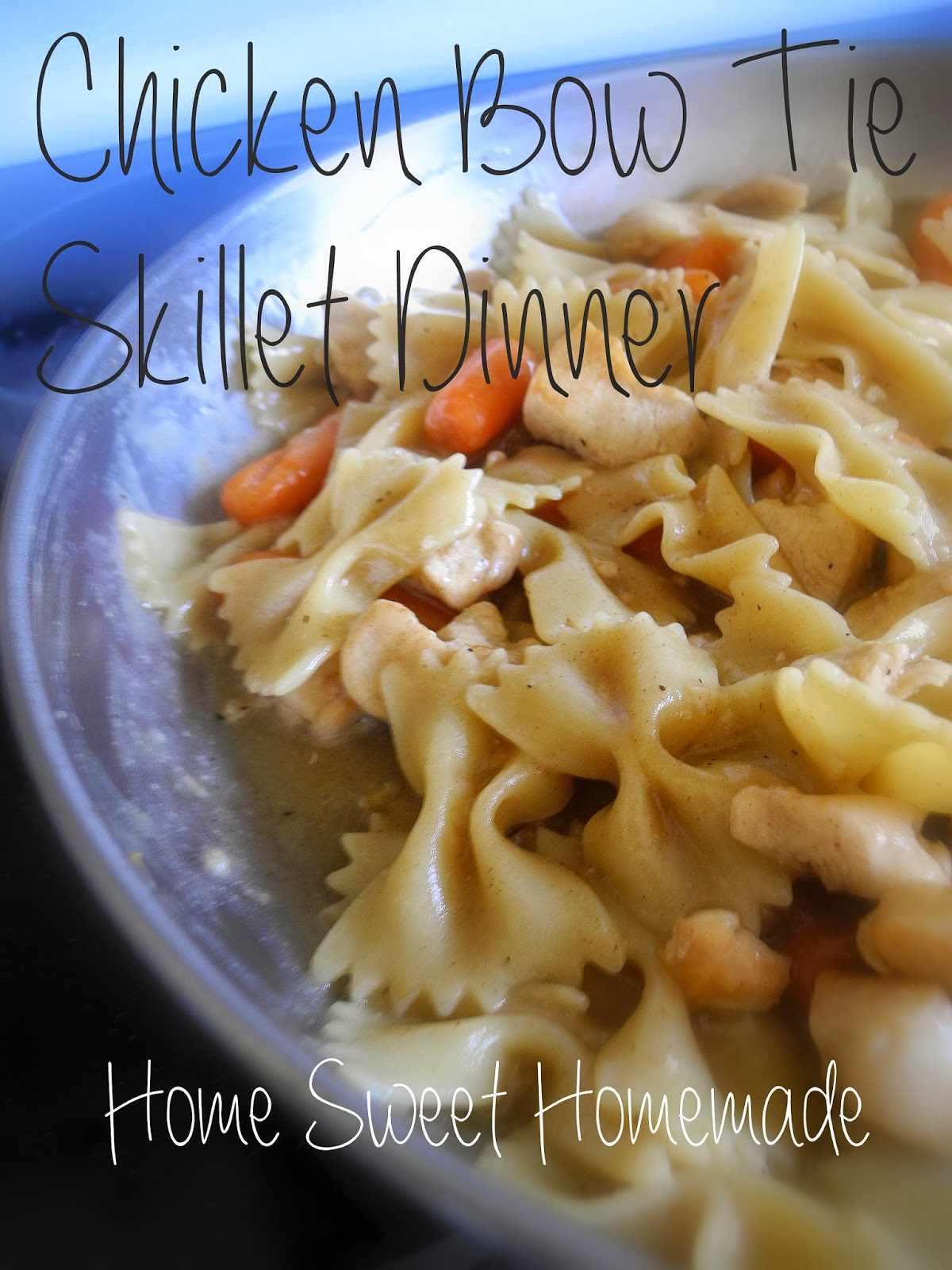 Chicken Bow Tie Skillet Dinner
