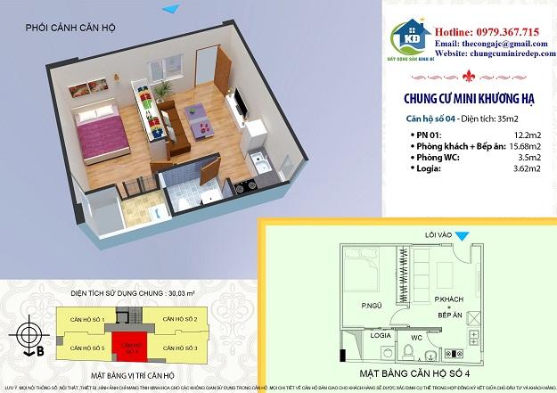 Bán chung cư Khương Hạ quận Thanh Xuân 35 m2 giá chỉ 550 triệu