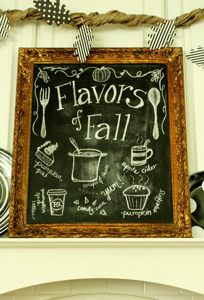 Fall Kitchen Decorating My Fall Kitchen Decor And A Free Fall Chalkboard Printable Less