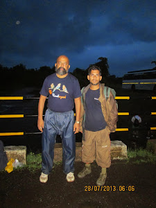 """Shikar Vedh"" Trek leader Mr Jagdish.Patil and self."