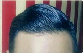 Hasil Pemakaian atau Contoh Aplikasi Setelah Memakai Minyak Rambut Pomade Variant American Pomade Original Sin