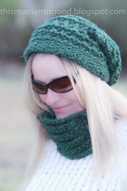 Cowl Loom Knitting Pattern : Loom Knitting by This Moment is Good!: LOOM KNIT PLEATED COWL PATTERN