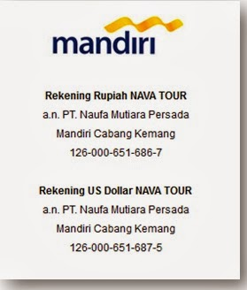 Rekening Nava Tour Travel
