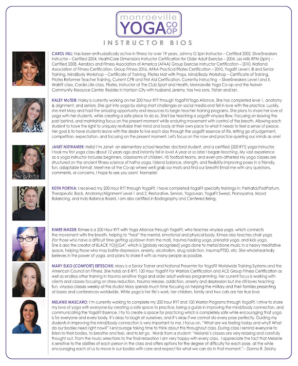 Read About Our Instructors...