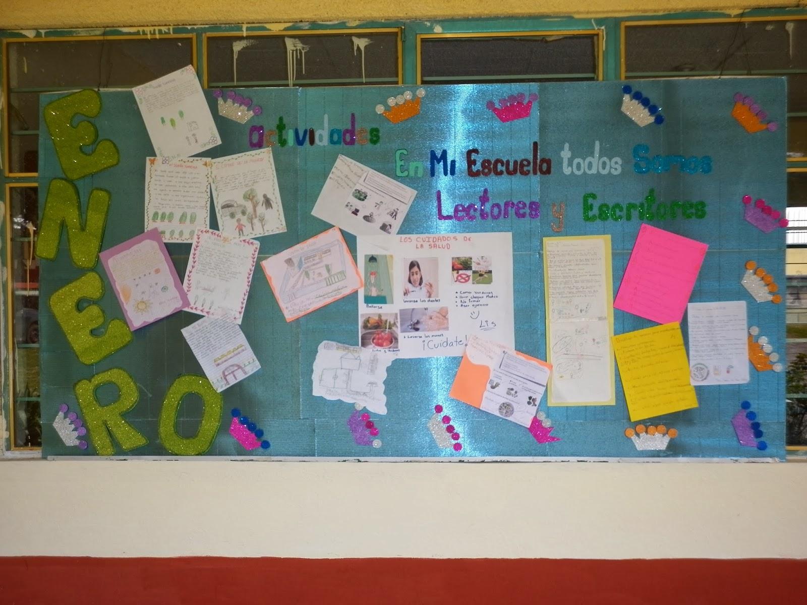 Biblioteca escolar peri dico mural enero for Estructura de un periodico mural escolar