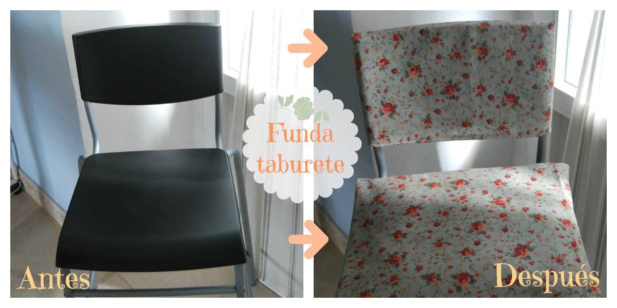 Casabelén Blog: FUNDA RESPALDO Y COJIN PARA TABURETE IKEA