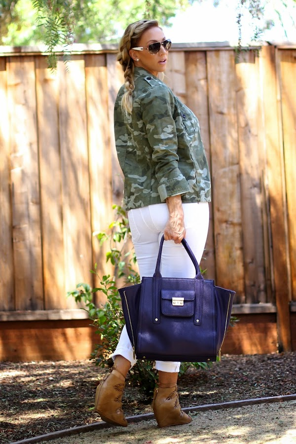 Purple Winged Tote