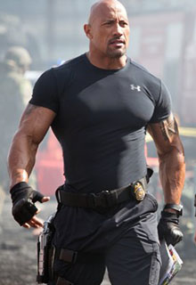Dwayne Johnson In Action in Fast & Furious 6
