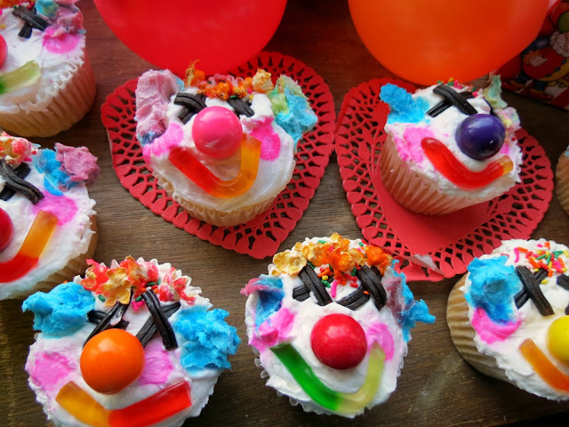 el happy payaso- clown cupcakes