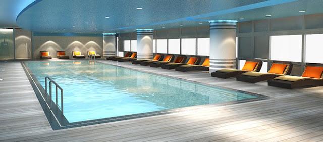 Bể bơi hiện đại của dự án Eco Green City