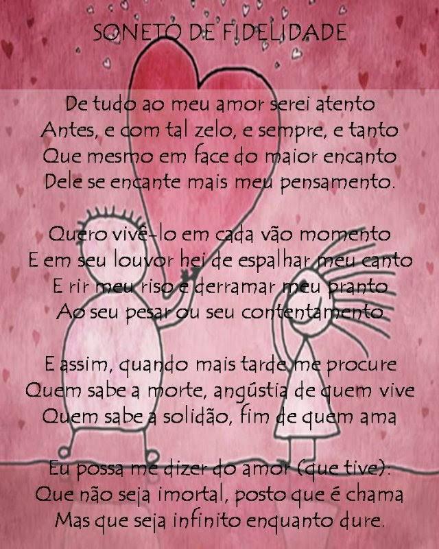 Muitas vezes Viajando com papel e tinta: Soneto de Fidelidade - Vinicius de Moraes TD03