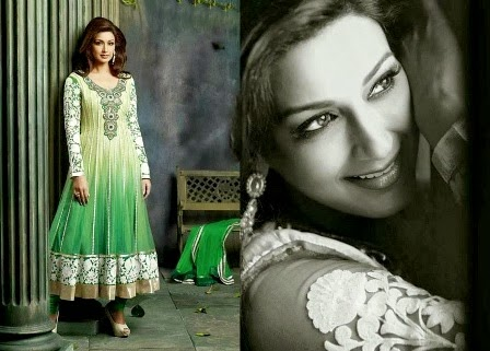 Designer Anarkali Suits Sonali Bendre
