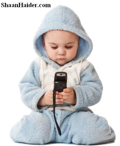 Kid using the mobile phone
