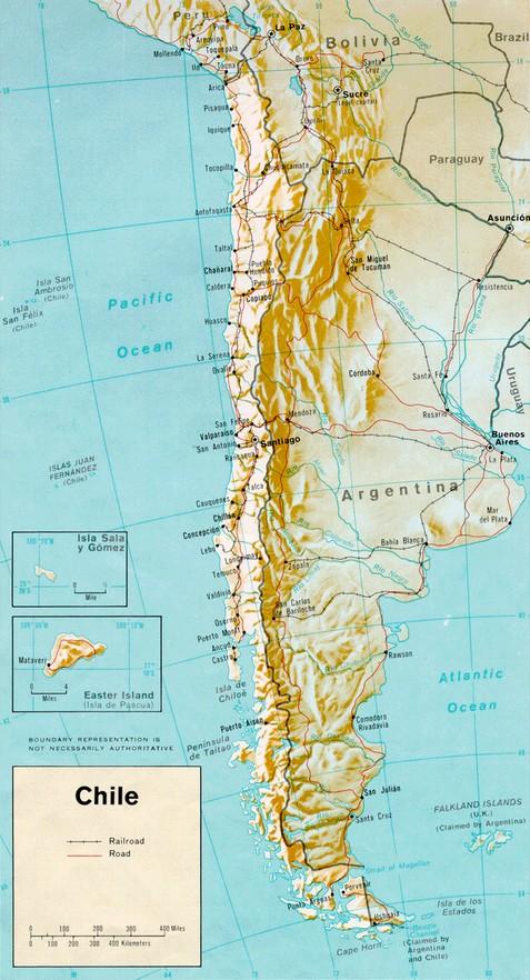 Chile Map World Maps - Chile map