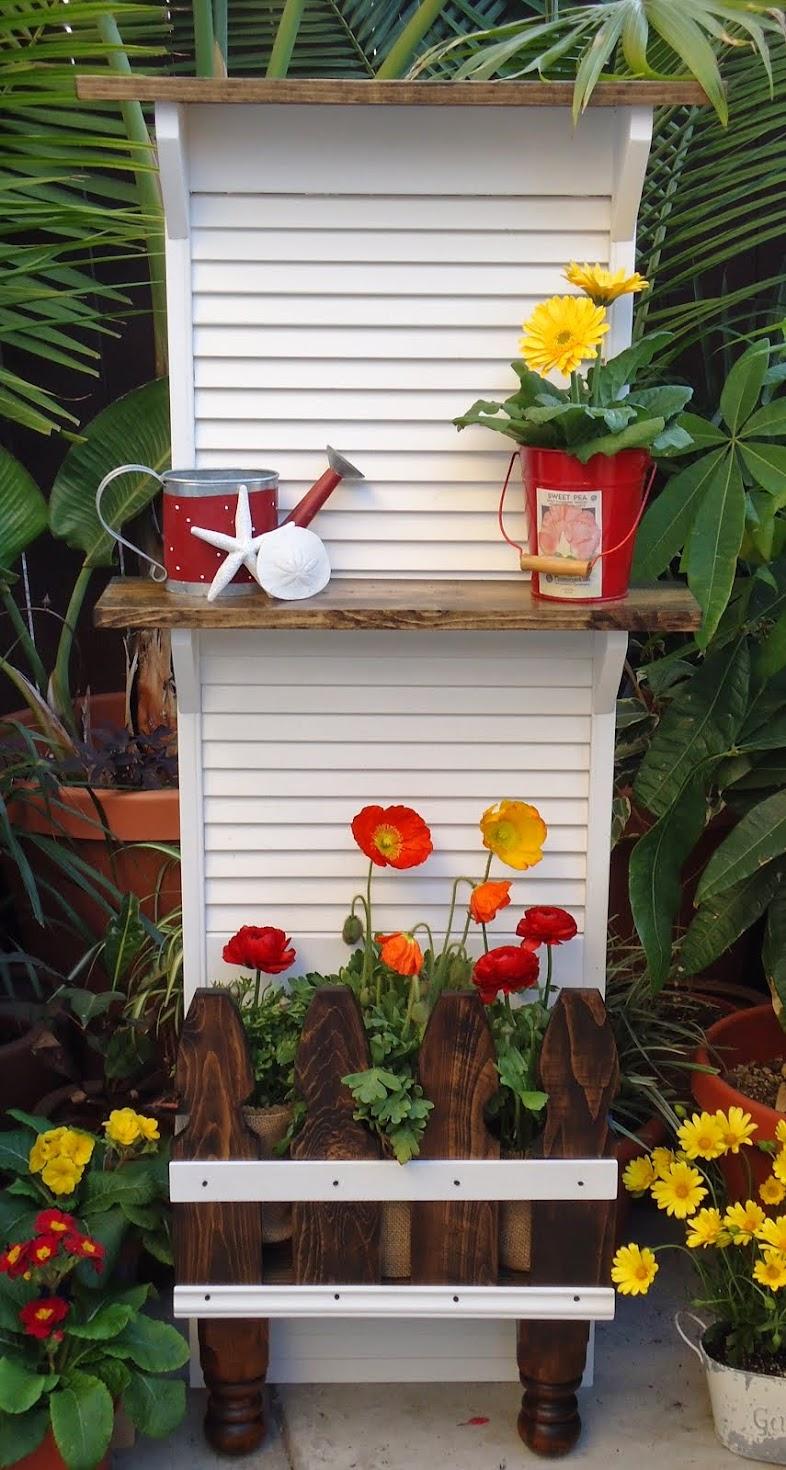 Shutter/Picket Fence Planter - SOLD
