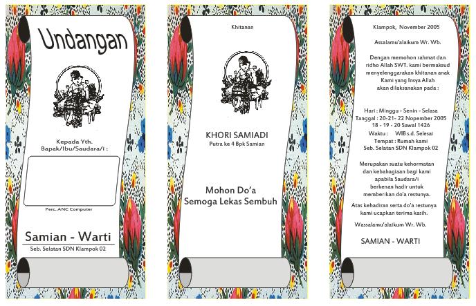 Download Undangan Gratis   Undangan Pernikahan   Undangan Khitan